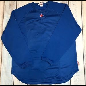 Magestic Chicago Cubs Blue Therma Base Pullover L